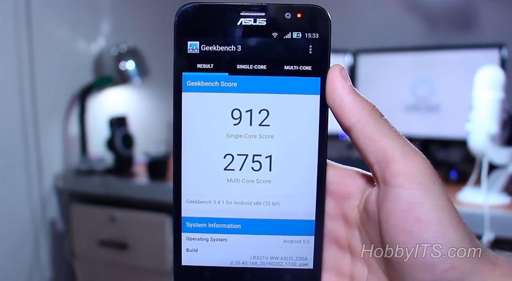 Тест Geekbench смартфона Asus Zenfone 2 DELUXE