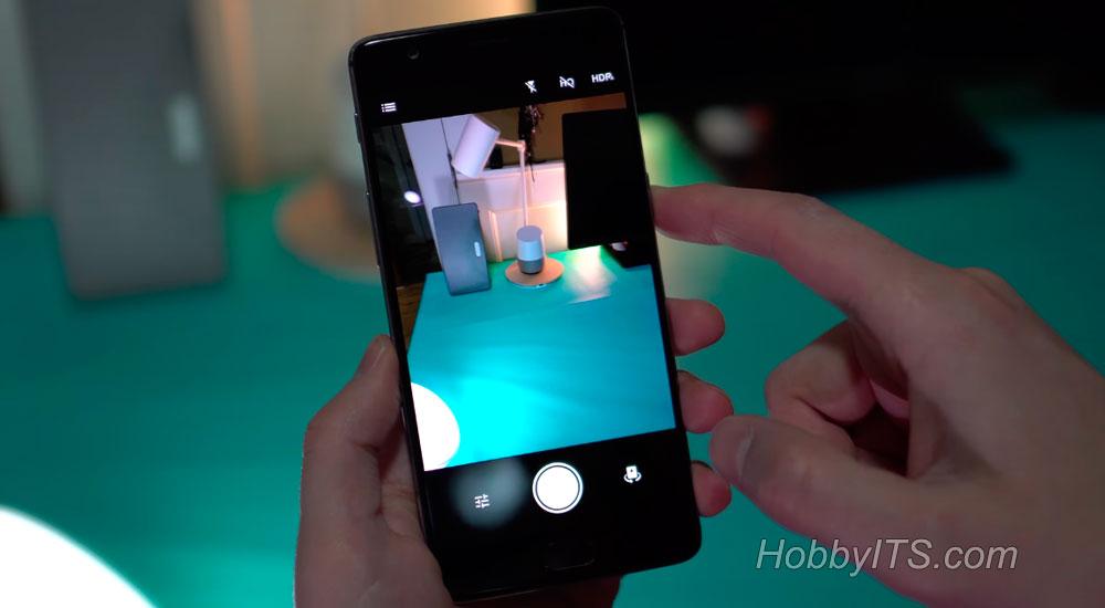 Демонстрация фронтальной камеры на OnePlus 3T