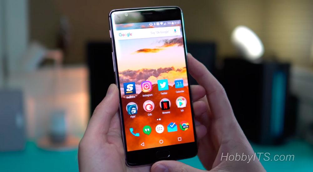 Лицевая панель с дисплеем Optic AMOLED на OnePlus 3T