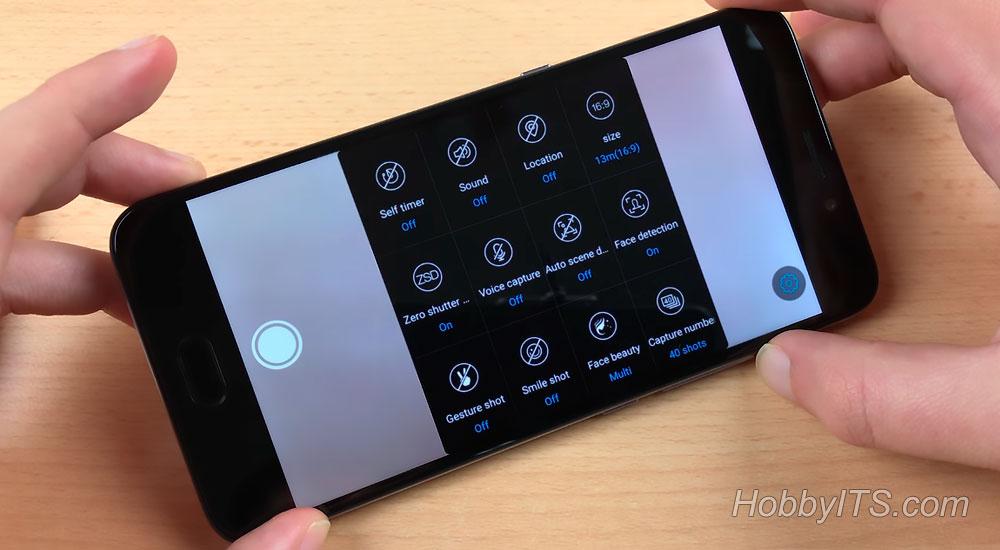 Опции камеры на телефоне UMI Plus