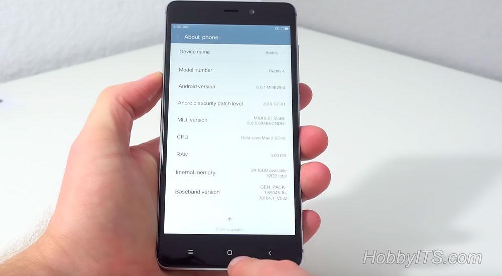 На Xiaomi Redmi 4 Prime ОС Android 6.0.1 Marshmallow