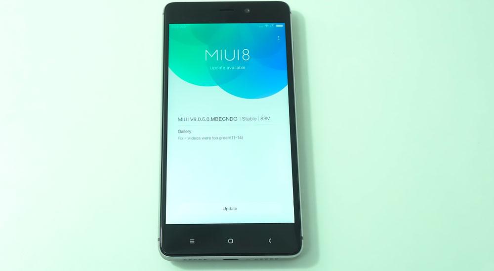 Фирменная оболочка MIUI 8 на Redmi 4 Prime