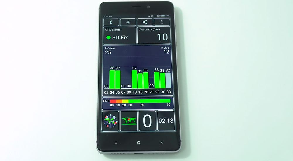 Тест GPS на Redmi 4 Prime