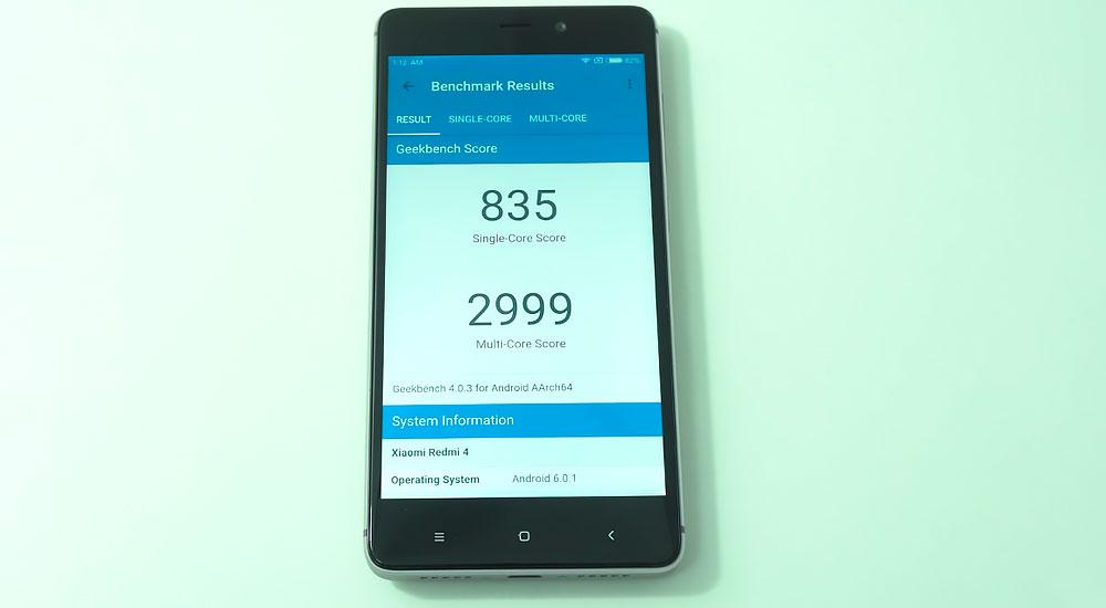Результаты Geekbench на Redmi 4 Prime
