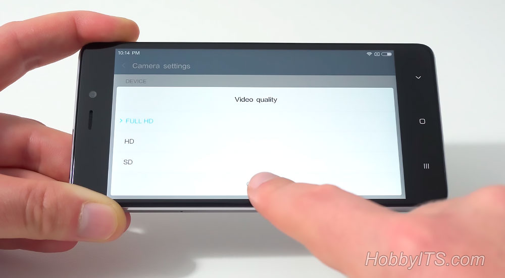 На Xiaomi Redmi 4 Prime камера может снимать в FullHD