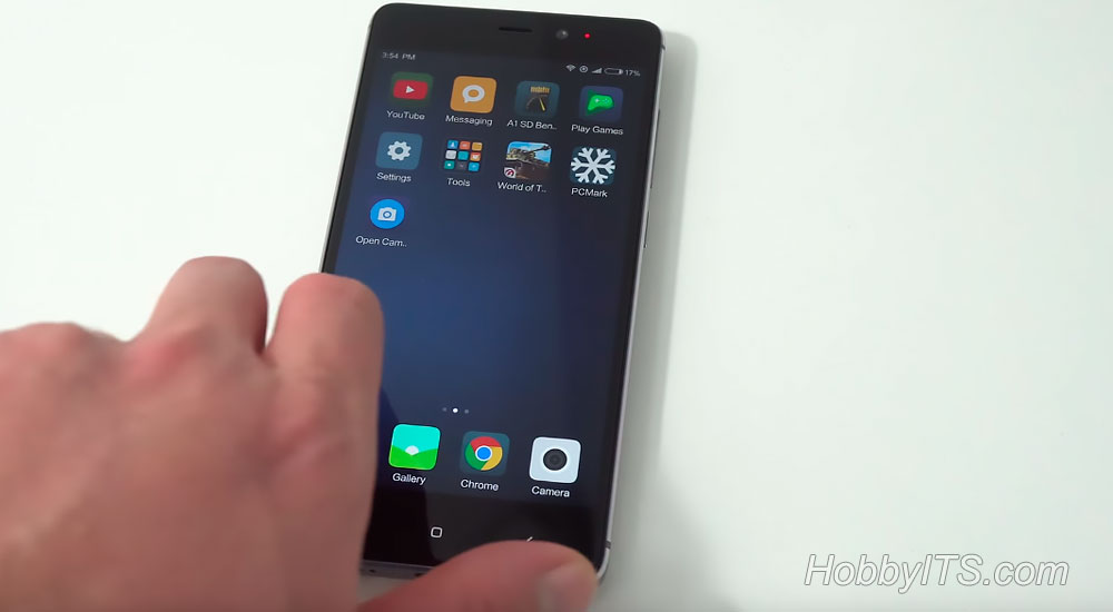 Внешний вид экрана на Redmi 4 Prime