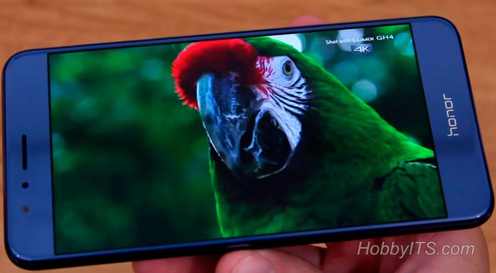 Демонстрация изображения на Huawei Honor 8