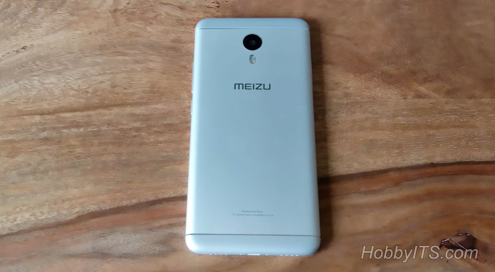 Задняя часть смартфона M3 Note с металлической крышкой