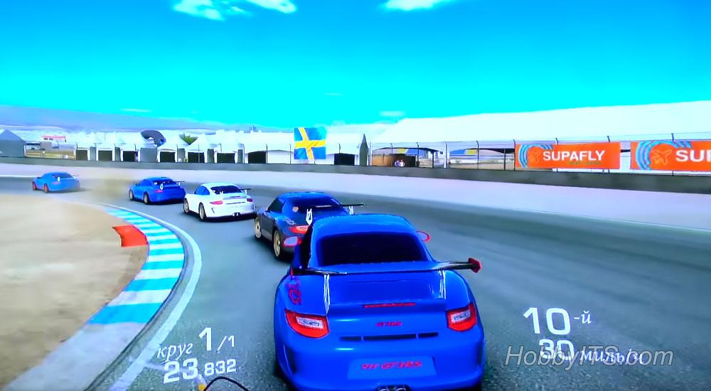 Тестирование игры Real Racing 3 на ТВ-приставке