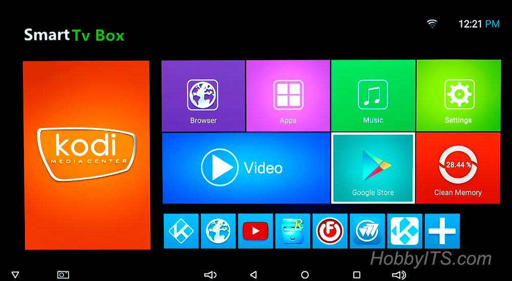 Интерфейс и очистка памяти на ТВ боксе Sunvell T95K Pro