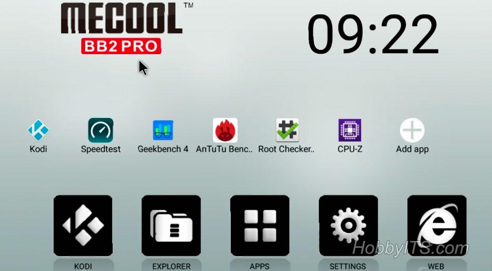 Привычный интерфейс на ТВ-приставке MECOOL BB2 PRO