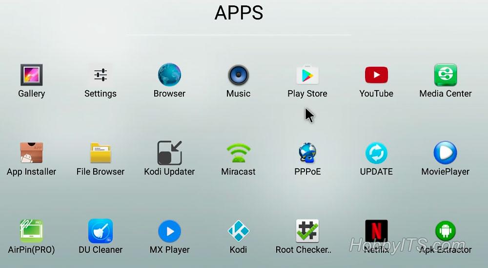 Программный интерфейс на MECOOL BB2 PRO