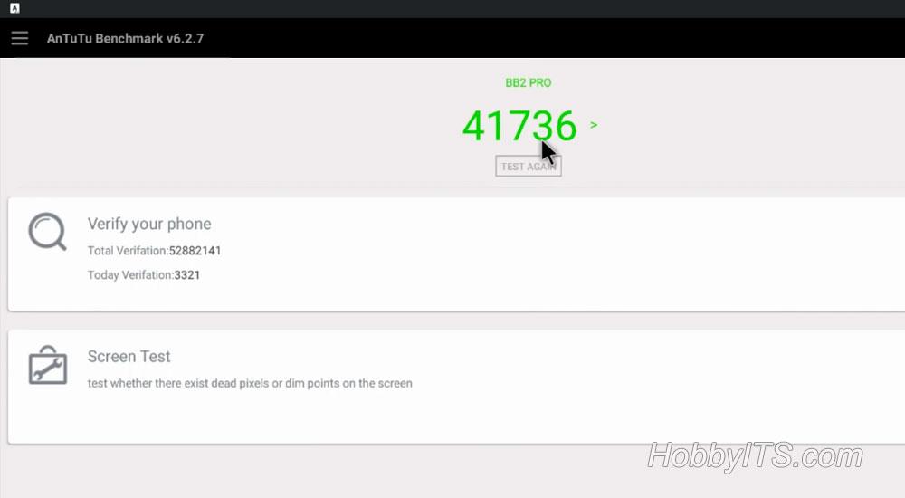 Результаты AnTuTu на ТВ-приставке MECOOL BB2 PRO