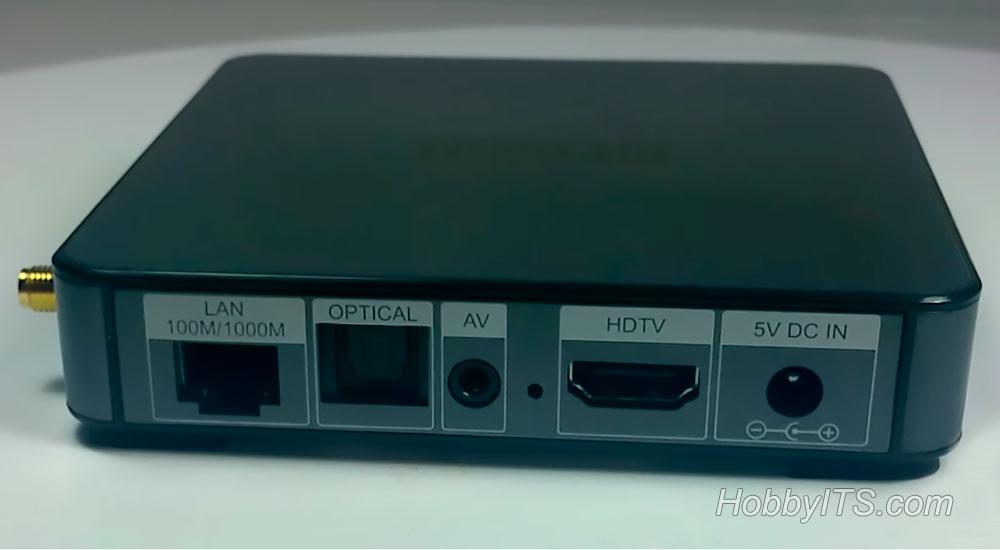 Оптический аудио и LAN порт на ТВ-приставке MECOOL BB2 PRO