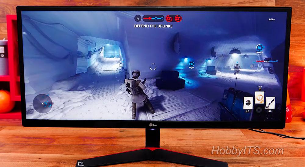 Игровой монитор LG 29UM69G-B со встроенными динамиками