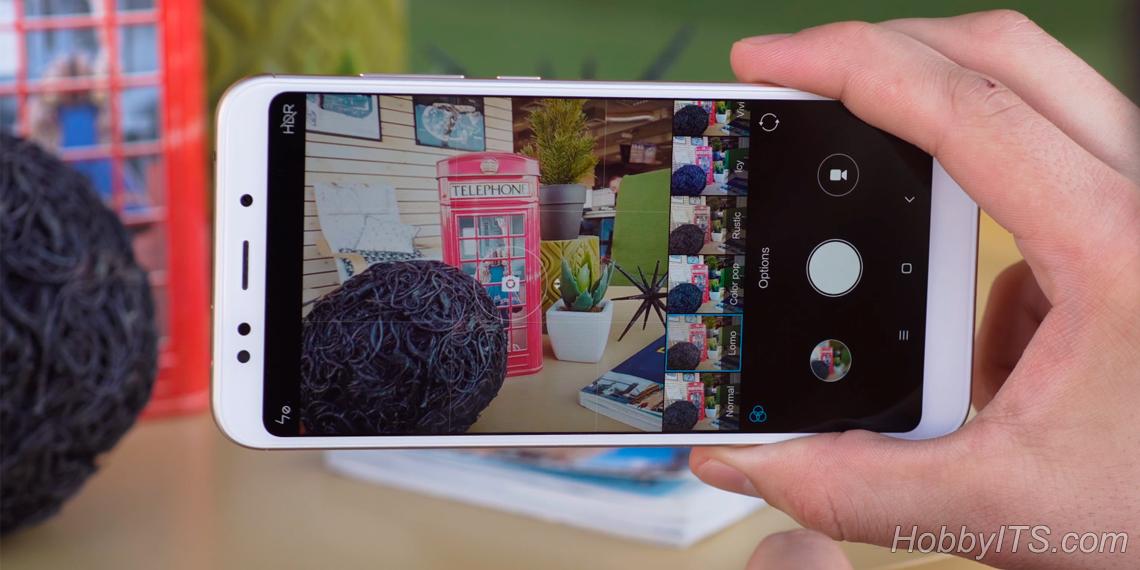 Камера Xiaomi Redmi 5 Plus с двойной вспышкой
