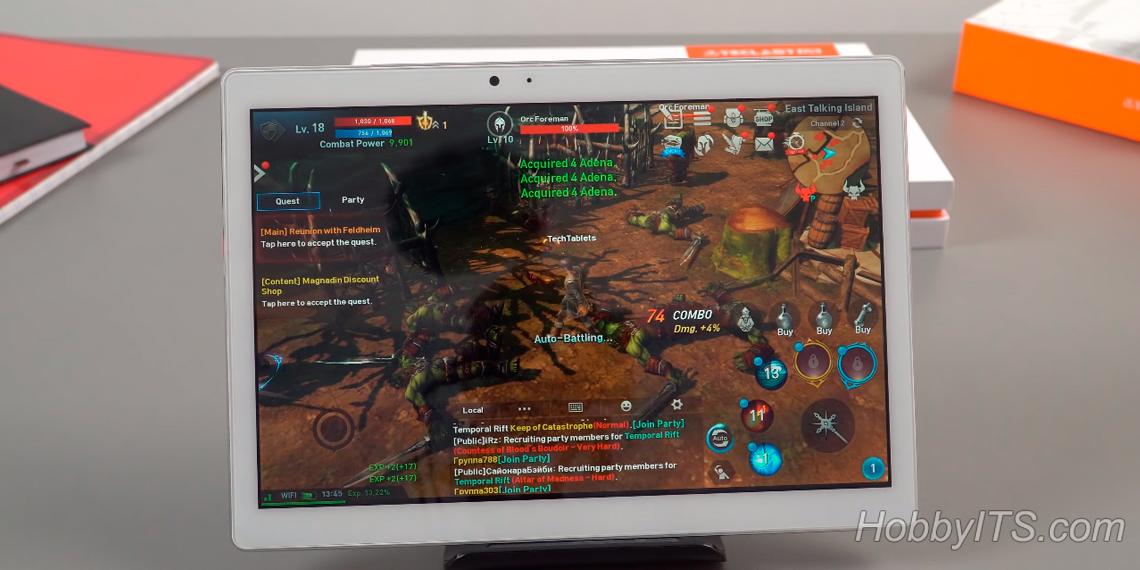 Teclast T20 4G справляется даже с тяжелыми приложениями и самыми требовательными играми