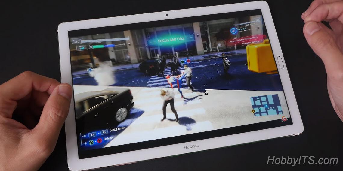 Игра Spider-Man на планшете Huawei MediaPad M5 Pro