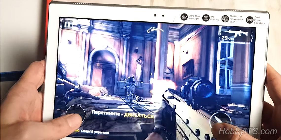 Играем Modern Combat 5 на планшете Tab 4 10 Plus
