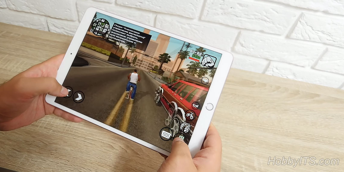 Игра Grand Theft Auto: San Andreas на iPad Pro 10,5