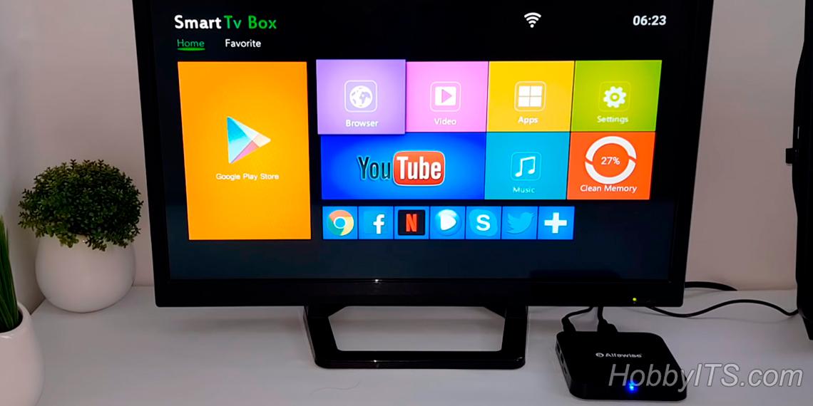 ОС и интерфейс Alfawise Z1 TV BOX