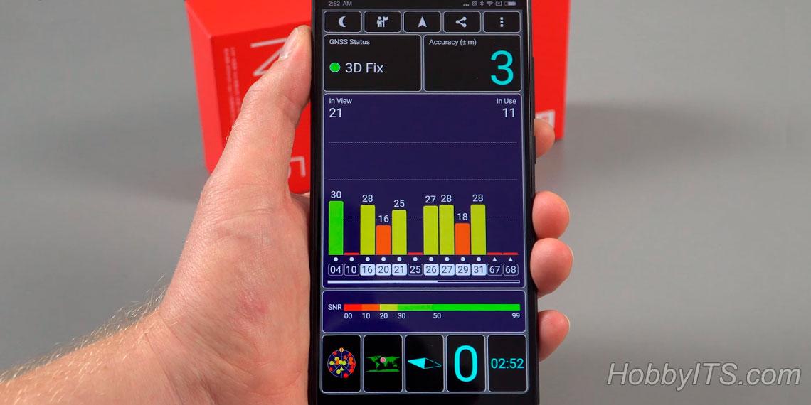 Тест GPS-модуля на Xiaomi Redmi Note 5