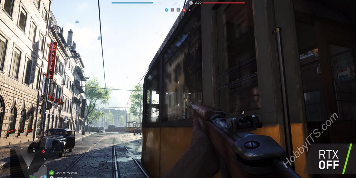 Игра Battlefield V без RTX