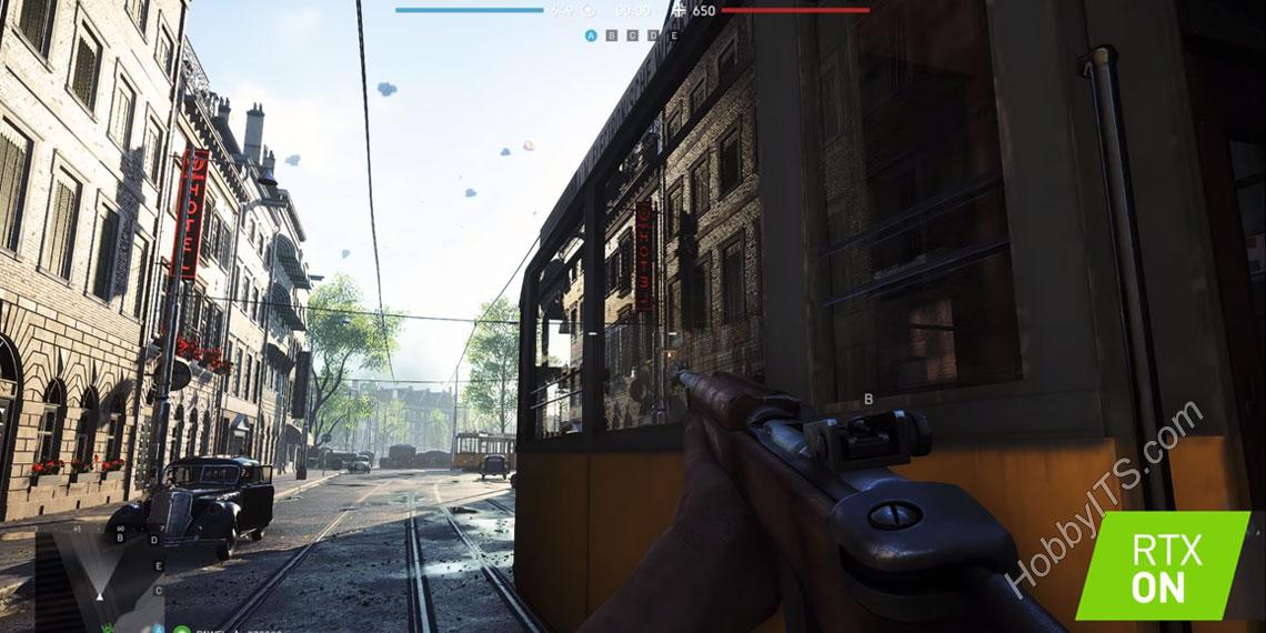Игра Battlefield V с включенным RTX