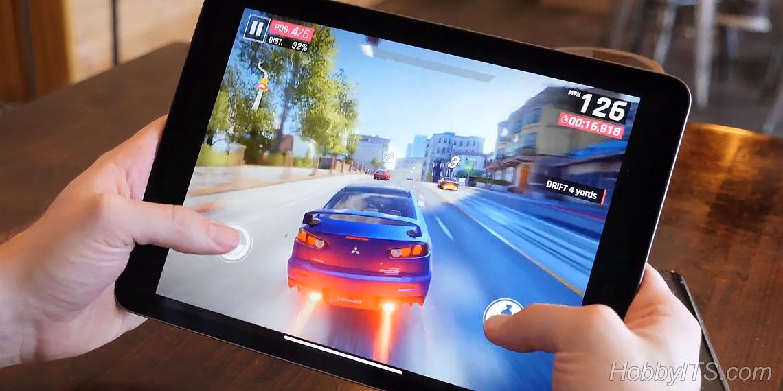 Тестирование игрыAsphalt 9 на планшете Apple iPad Pro 11